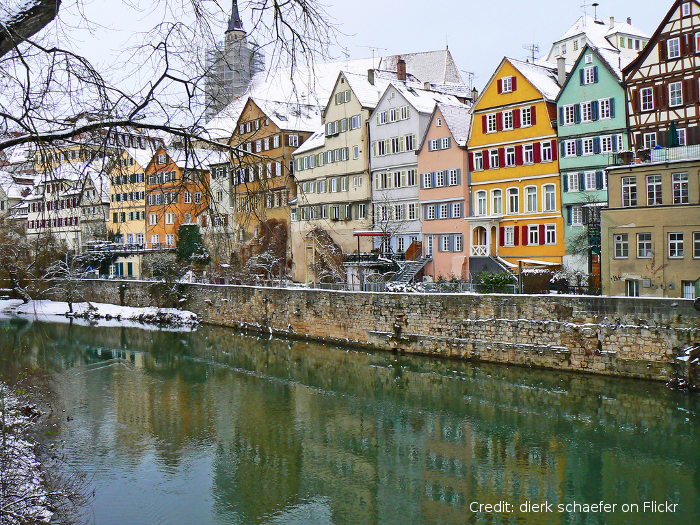 Tuebingen in winter