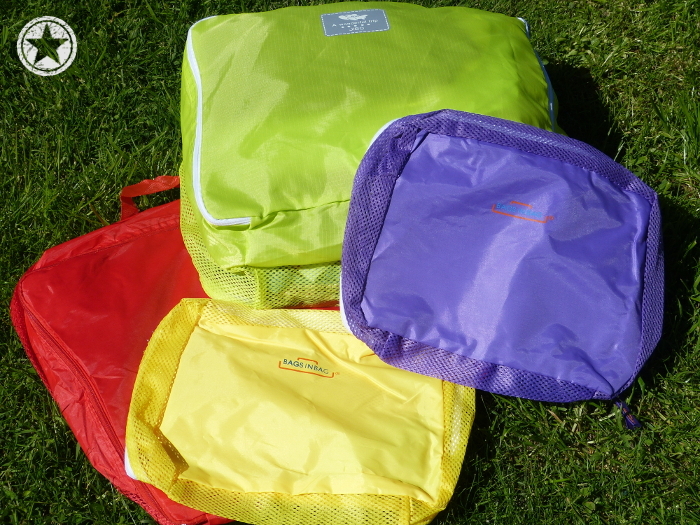 Colour-coded packing cubes