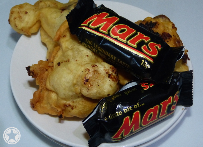 Deep fried Mars bars