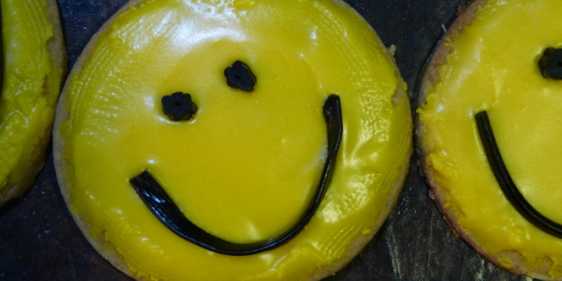 Smilie face biscuits