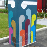 Painted traffic controller cabinets, Hastings