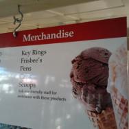 Rush Munro's Ice Cream Parlour Merchandise sign