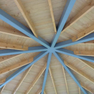 Rotunda ceiling in the Frimley Rose Gardens, Hastings